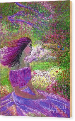 Butterfly Breezes Wood Print by Jane Small