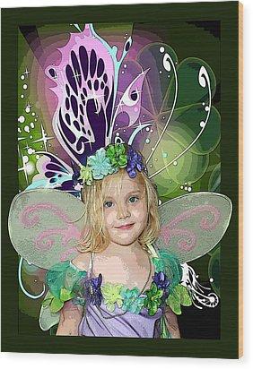Butterfly Fairy Wood Print by Ellen Henneke