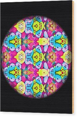 Butterfly Mandala Wood Print by Karen Buford