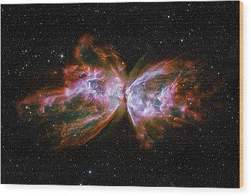 Butterfly Nebula Ngc6302 Wood Print by Adam Romanowicz