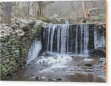 Buttermilk Falls 2 Wood Print by Anthony Thomas