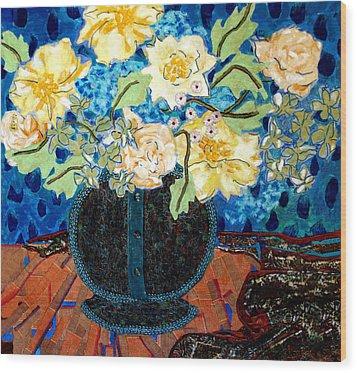Button Up Vase Wood Print by Diane Fine