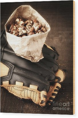 Buy Me Some Peanuts And Cracker Jack Wood Print by Edward Fielding