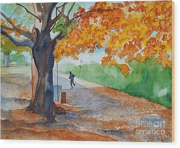 By The Rideau Canal Wood Print by Lise PICHE