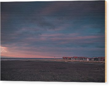 Wood Print featuring the photograph Cabanes by Thierry Bouriat