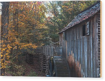 Cades Cove Mill Wood Print by Steve Gadomski