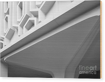 Cal State University Fullerton Pollak Library Wood Print by University Icons