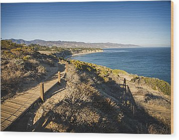 California Coastline From Point Dume Wood Print by Adam Romanowicz