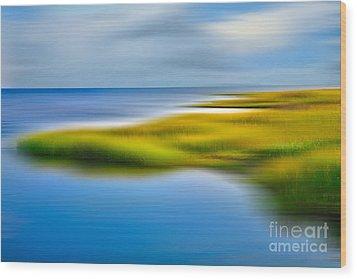 Calm Waters - A Tranquil Moments Landscape Wood Print by Dan Carmichael