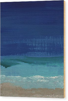Calm Waters- Abstract Landscape Painting Wood Print by Linda Woods