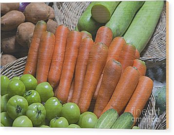 Cambodian Carrots Wood Print by Craig Lovell
