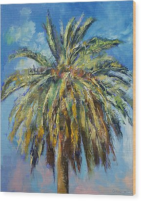 Canary Island Date Palm Wood Print by Michael Creese