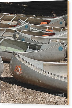 Canoes 143 Wood Print by Gary Gingrich Galleries