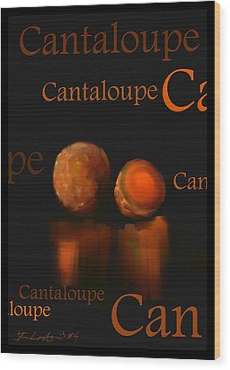Cantaloupe - Fruit And Veggie Series - #4 Wood Print by Steven Lebron Langston