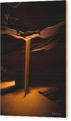 Canyon Sand From Above Wood Print by Bill Cantey