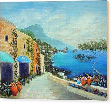 Capri Fantasies Wood Print by Larry Cirigliano