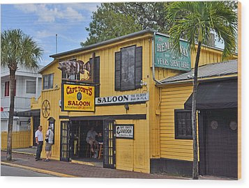 Captain Tony's Saloon Wood Print by Chris Thaxter