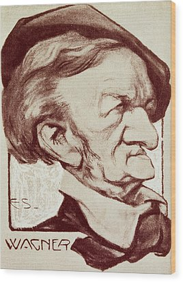 Caricature Of Richard Wagner Wood Print by Anonymous