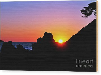 Carmel Sunset Wood Print by Susan Wiedmann