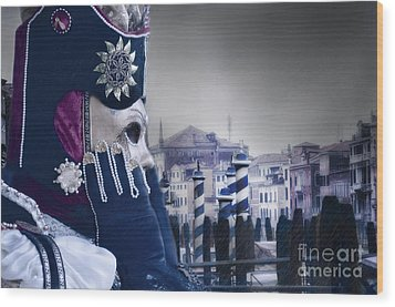Carnival In Venice 20 Wood Print by Design Remix