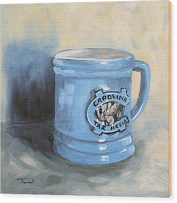 Carolina Tar Heel Coffee Cup Wood Print by Torrie Smiley