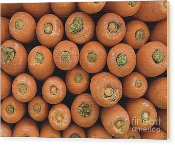 Carrots Wood Print by Rick Piper Photography