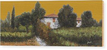 Casa Al Tramonto Wood Print by Guido Borelli