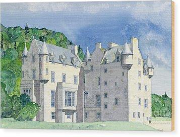 Castle Menzies Wood Print by David Herbert