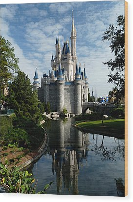 Castle Reflections Wood Print by Nora Martinez