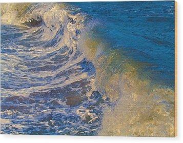 Catch A Wave Wood Print by John Haldane