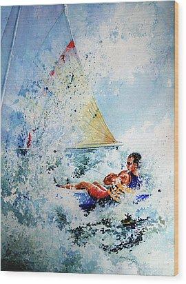 Catch The Wind Wood Print by Hanne Lore Koehler