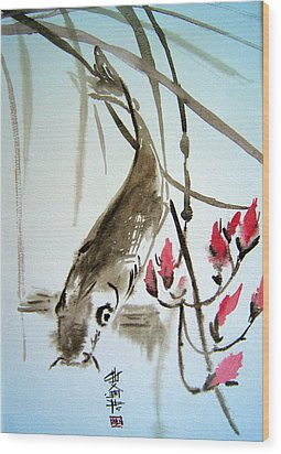 Catfish Wood Print by Alena Samsonov