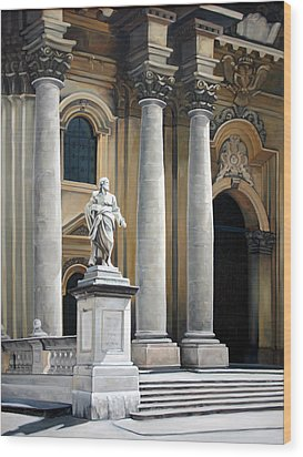 Cathedral Of Syracuse Wood Print by Kathleen English-Barrett