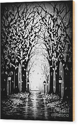 Cathedral Park Wood Print by Janine Riley