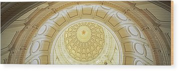 Ceiling Of The Dome Of The Texas State Wood Print by Panoramic Images