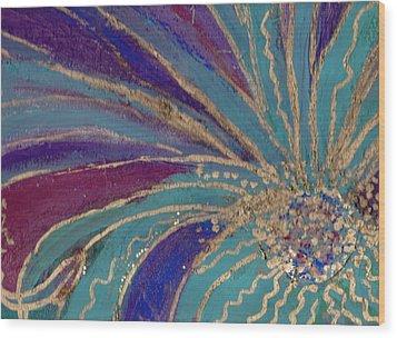 Celebration IIi Wood Print by Anne-Elizabeth Whiteway