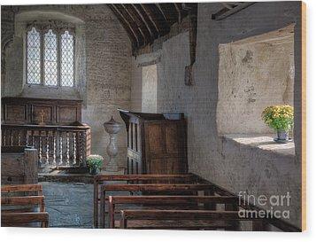 Celynnin Church Wood Print by Adrian Evans