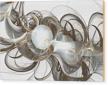 Central Core Wood Print by Anastasiya Malakhova