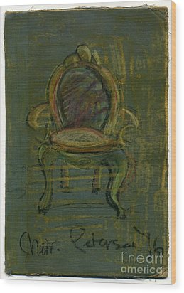 Chair Fetish '96 Wood Print by Cathy Peterson