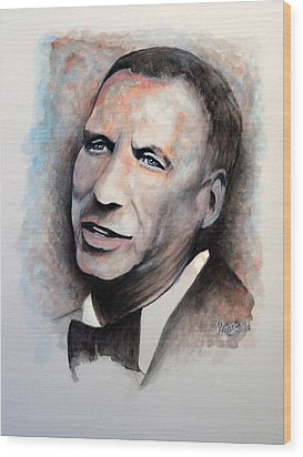 Chairman Of The Board - Sinatra Wood Print by William Walts