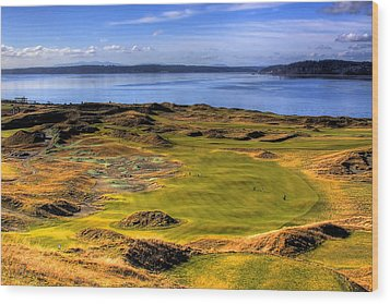 Chambers Bay Golf Course II Wood Print by David Patterson