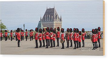Changing Of The Guard The Citadel Quebec City Wood Print by Edward Fielding
