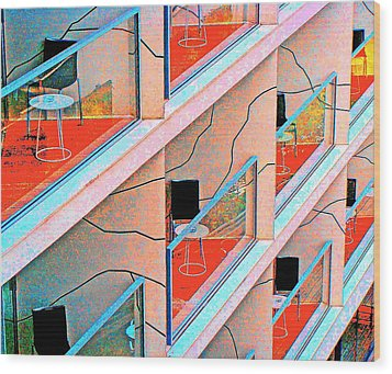 Channeling Mondrian  Wood Print by Ira Shander