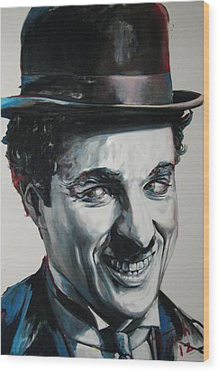 Charlie Wood Print by Tachi Pintor