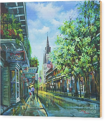 Chartres Afternoon Wood Print by Dianne Parks