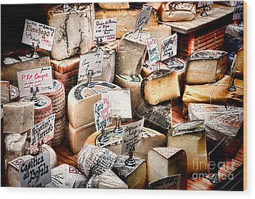 Cheese Shop Wood Print by Olivier Le Queinec