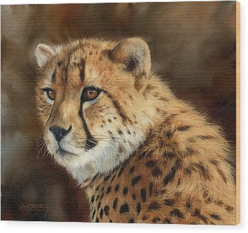 Cheetah Wood Print by David Stribbling