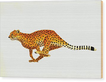 Cheetah Wood Print by Michael Vigliotti