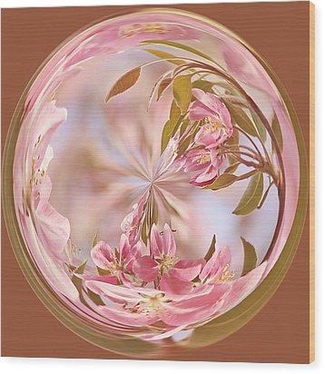 Cherry Blossom Orb Wood Print by Kim Hojnacki