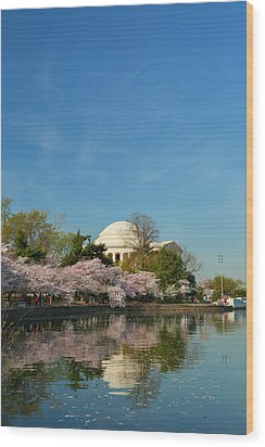 Cherry Blossoms 2013 - 098 Wood Print by Metro DC Photography